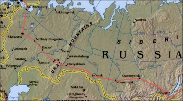 World Run Route Info Part 2 East Russia
